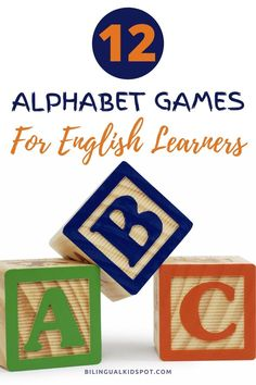 Fun alphabet games for kids to learn their ABC's in English Alphabet Games, Teaching The Alphabet, Kids English, English Alphabet, Raising Kids, Games For Kids, Languages, Kids Learning, Speakers