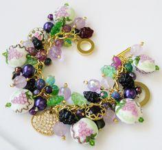 Fall Grape Vineyard Handcrafted Charm Bracelet Etsy - FancifulFlairDesigns eBay - kathieaug ID