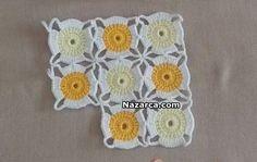 Crochet Motif Patterns, Granny Square Crochet Pattern, Crochet Granny, Baby Blanket Crochet, Crochet Doilies, Crochet Flowers, Crochet Baby, Granny Square Häkelanleitung, Crochet Projects