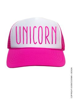 "Use coupon code ""pinterest"" Unicorn Hat - Pink Trucker Hat by DentzDenim"