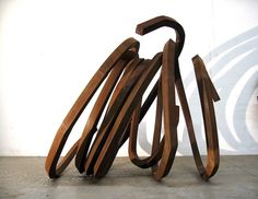 Bernar Venet, Two Indeterminate Lines, 2006