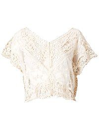 Woodstock Lace Top - Bohemian White Top