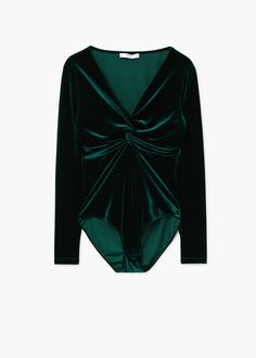 f01c92b273acc9 Gareth Pugh Open-back one-shoulder velvet top ( 835) ❤ liked on Polyvore  featuring tops