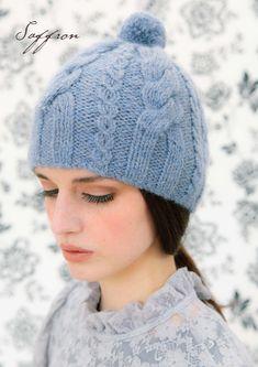 Beautiful Louisa Harding bobble hat. Free pattern: http://blog.loveknitting.com/two-free-louisa-harding-patterns-exclusive-saffron-hats/
