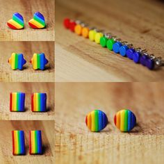 New rainbow earrings in the shop now!