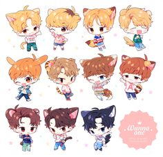WARAU (@w____one)   Twitter Anime Chibi, Bts Got7, One Twitter, All About Kpop, Kpop Drawings, Lai Guanlin, First Art, Kpop Fanart, Art Studies