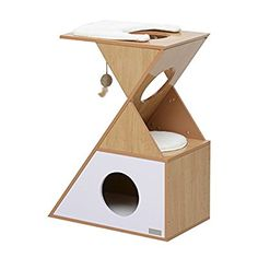 """PawHut 28"""" Cat Furniture Tree Kitten Condo Scratching Mat Pet Play House w/ Toy: Amazon.ca: Health & Personal Care"""