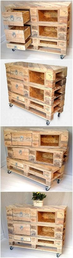 pallets entryway table on wheels