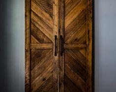 Rustic Farmhouse Barn Doors for Entertainment Center