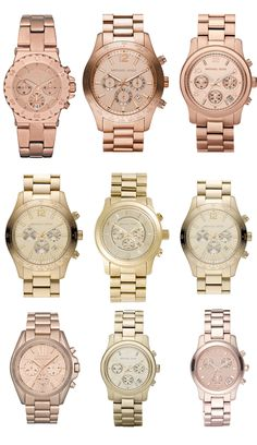 I am working on a watch in every color! I don't have any Michael Kors watches, but would love one :)