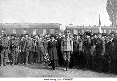 zita von habsburg | Karl von Habsburg's march on Budapest - Stock Image