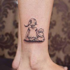 Creative Animal Tattoos - Meanings of Popular Tattoo Designs of Animals Mini Tattoos, Small Dog Tattoos, Palm Tattoos, Pretty Tattoos, Love Tattoos, Beautiful Tattoos, Body Art Tattoos, Tattoos For Women, Tatoos