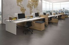 Modular Office Furniture - Modern Workstations, Cool Cubicles, Sit Stand Benching SystemsSource by Open Space Office, Bureau Open Space, Office Space Design, Modern Office Design, Office Furniture Design, Workspace Design, Contemporary Office, Office Workspace, Office Interior Design