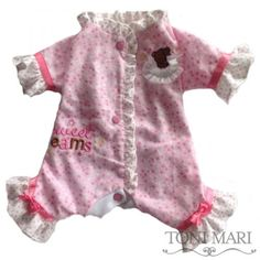 Tonimari Pajama Sweet Dreams Pink White