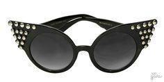 Óculos De Sol Gatinha Grande Com Rebites || Ui! Gafas