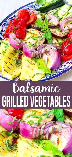 There is nothing better than the simple fresh flavors of grilled vegetables. These ones are drizzled with a garlic balsamic dressing and will be the hit of your bbq! 145 calories and 3 Weight Watchers SP Healthy Side Dishes, Side Dishes Easy, Side Dish Recipes, Dinner Recipes, Top Recipes, Grilled Zucchini, Grilled Vegetables, Grilling Recipes, Cooking Recipes