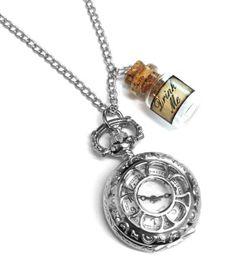 Alice im Wunderland trinken mich Flasche Taschenuhr Halskette s - http://schmuckhaus.online/fallen-saint/alice-im-wunderland-trinken-mich-flasche-s