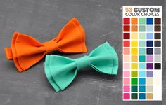 Mens Pre-tied Solid Color Bow Tie (53 colors available)