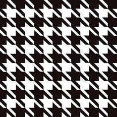 Houndstooth ou Pied-de-Poule - É uma Padronagem, geralmente em Preto e Branco, lembrando o Xadrez, muito usada no vestuário masculino, eternizada no guarda-roupa feminino pela Coco Chanel e repaginada nos mais atuais desfiles de Moschino, Ferragamo, Balenciaga e YSL.