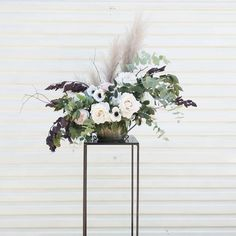 Modern black centerpiece
