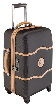 Delsey Luggage Chatelet 21 Inch Carry-On Spinner, Black, One Size