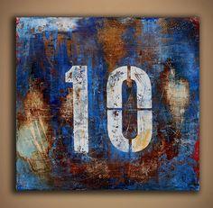 Número de arte pintura por erinashleyart en Etsy, $195.00
