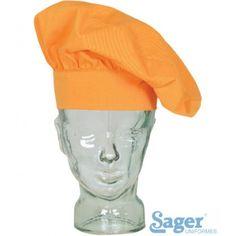 GORRO cocina chapela Referencia  1928 R226 Marca:  Sager Uniformes  67% Poliéster – 33% Algodón  Sarga 210gr/ m2  Altura 24cm  Talla regulable velcro
