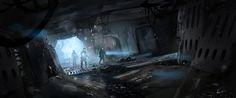 Crashed space ship , Albert Urmanov on ArtStation at http://www.artstation.com/artwork/crashed-space-ship
