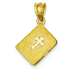 Gold Bible Charm, Charms for Bracelets and Necklaces Holi, Gold Necklace, Bible, Charmed, Personalized Items, Yellow, Jewelry, Lockets, Satin