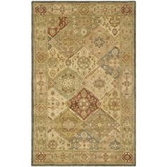 Safavieh Antiquity Collection AT316A Handmade Multi and Beige Wool Area Rug, 5 feet by 8 feet (5′ x 8′) #handmade Safavieh Antiquity Collection AT316A Handmade Multi and Beige Wool Area Rug, 5 feet by 8 feet (5′ x 8′) Safavieh's Antiquities Collection evokes the old world style and quality with modern hand tufting techniques. These rugs bring traditional sophistication and the authentic look and feel of 19th century Persian rugs. These rugs are made from 100% premium, hand-spun wool,..