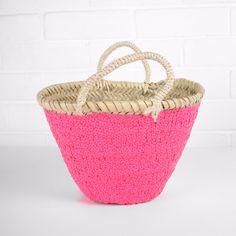Mini Sequin Basket - Neon pink