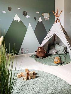 Nursery Wall Decor, Baby Room Decor, Nursery Room, Kids Bedroom Paint, Kids Bedroom Designs, Teepee Nursery, Forest Nursery, Kids Wall Decor, Woodland Nursery Decor