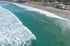 Party wave gathers 103 surfers at La Jolla Shores The goal was to break the Guinness World Record, but they just fell short by eight surfers. The 1 Wave Challenge will return in 2018.