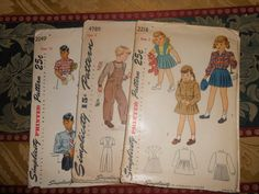 Simplicity printed pattern 25 C by MinaLucinda on Etsy, $35.00