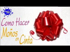 Manualidades - Crafts - como hacer un moño - wrapping gifts - how to make a bow