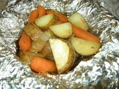 Hobo Packets - can't go wrong. Love Dale's seasoning