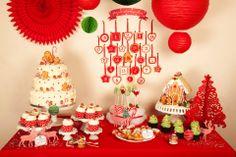 Sweet Table de Noël Création : LITTLE - Petits Gâteaux Crédit Photo : Julie Marie Gene Graphisme : Solenn As Sweet