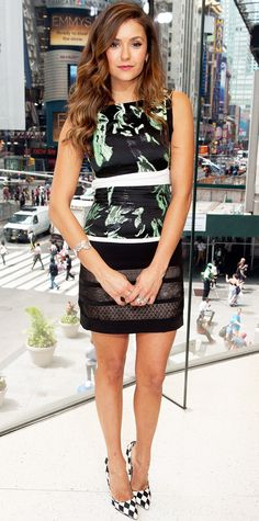 Look of the Day - August 5, 2014 - Nina Dobrev in J. Mendel from #InStyle