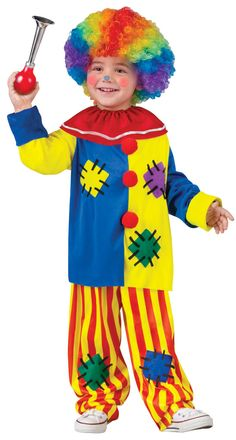It will be all fun and games when your trickster hits the circus in our Big Top Clown Toddler Costume. Boys and girls can make their audiences laugh with any funny act of their choice during dress-up. Our toddler Big Top Clown Costume includes a long-sleeved blue and yellow top featuring printed colorful patchwork, red pom-poms down bodice, red ruffle collar and striped yellow and red pants with printed patchwork. Watch them clown around like a true jester and feel ready to run away with the…