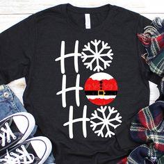 Ho Ho Santa T-Shirt tshirtclothing Christmas Svg, Family Christmas, Christmas Shirts, Christmas Sweaters, Xmas Shirts, Winter Shirts, School Shirts, T Shirt Designs, Cute Designs