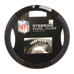 NFL New England Patriots PolySuede Steering Wheel Cover * Click image for more details.