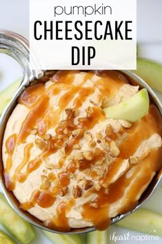 This pumpkin cheesecake dip is perfect for any Halloween or fall gathering. It has great fall flavors and tastes even better with a little salted caramel drizzled over the top. #pumpkin #pumpkinrecipes #pumpkindip #pumpkindesserts #fall #fallrecipes #falldesserts #cheesecake #cheesecakedip #pumpkincheesecake #nobake #nobakerecipes #nobakedips #recipes #iheartnaptime Pumpkin Dip, Cheese Pumpkin, Pumpkin Recipes, Fall Recipes, Dip Recipes, Cheesecake Dip, Pumpkin Cheesecake, Cheesecake Recipes, Fun Desserts