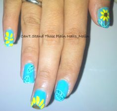 Sunflowers Nails for Spring