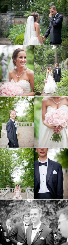 Stan Hywet Gardens Wedding // Cleveland, Ohio // Lily Glass Photography // black tie // first look