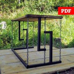 Welded Furniture, Steel Furniture, Welding Projects, Diy Wood Projects, Welding Tools, Welding Art, Microsoft, Floating Table, Cypress Wood