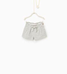 zara bebe niña pantalones cortos