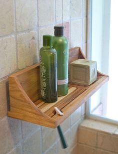 teak shower shelf