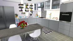 Dinha Gamer: Black & White Kitchen • Sims 4 Downloads