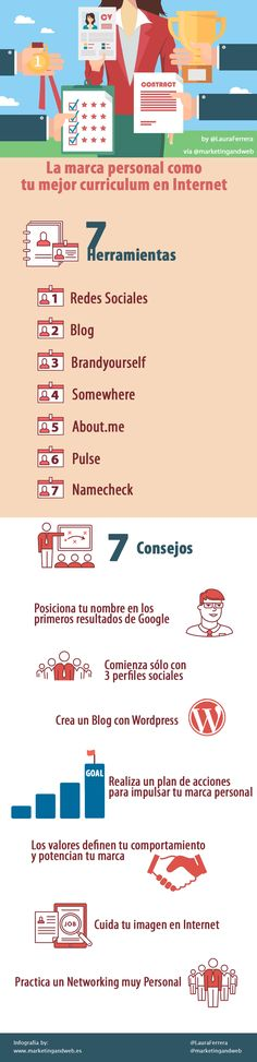 Marca personal: tu mejor curriculum en Internet #infografia #empleo #marketing | TICs y Formación
