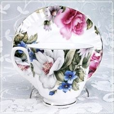Grace's Rose Bone China Cup & Saucer